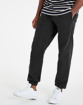 Black Cuffed Elasticated Waist Trousers