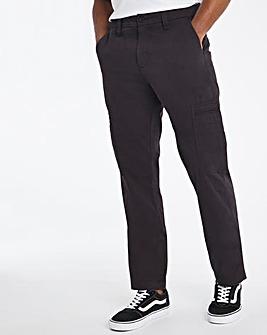 Black Slim Cargo Trousers