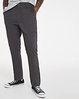 Charcoal Slim Cargo Trousers