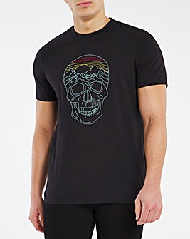 Black Fluro Skull Graphic Tee