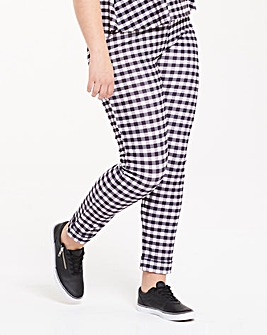 Pink Clove Gingham Trousers