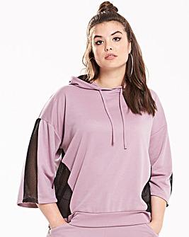 Pink Clove Contrast Mesh Insert Sweater