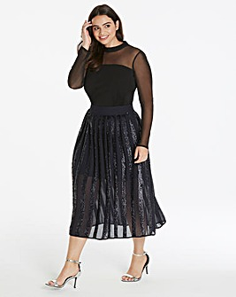 Coast Joey Panelled Sequin Skirt