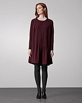 I.Scenery Asymmetric Panelled Dress