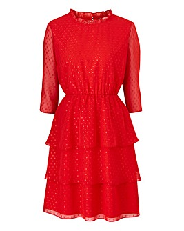 Juna Rose High Neck Red Spot Dress