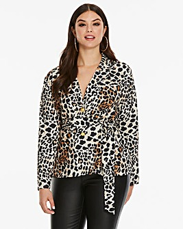 AX Paris Curve Leopard Printed Pyjama Jacket