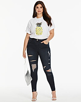 Ax Paris Curve Pineapple Tee