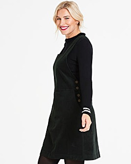 Oasis Curve Cord Pinafore Dress