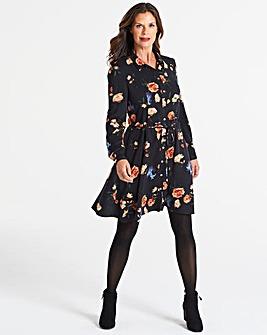 Oasis Floral Print Shirt Dress