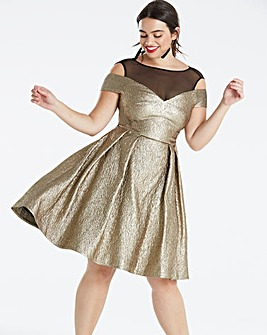 Coast Jiana Metallic High Low Dress