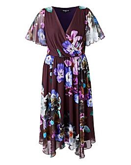 Scarlett & Jo Floral Hanky Hem Dress