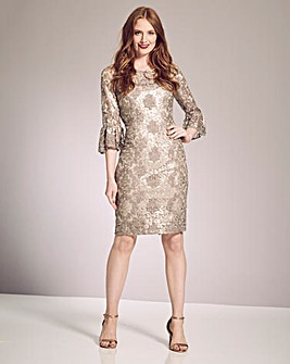 Gina Bacconi Lace Sequin Dress