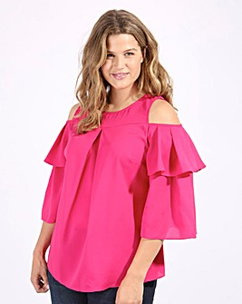 Lovedrobe Ruffle Sleeve Top