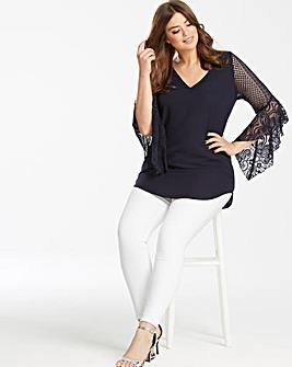 Lovedrobe Lace Sleeve Blouse