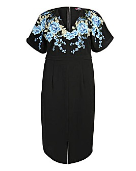 Lovedrobe Flower Motif Wiggle Dress