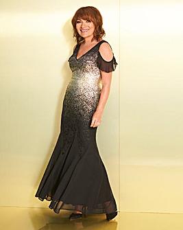 Lorraine Kelly Gold Fishtail Dress