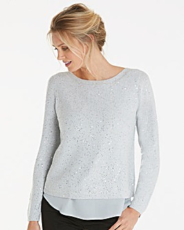 Oasis Curve Sequin Yarn Knit