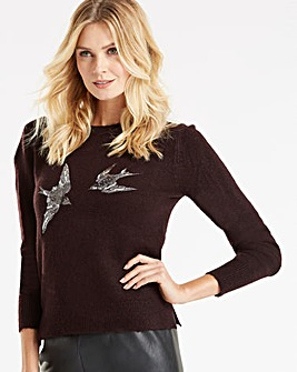 Oasis Curve Swooping Swallow Knit