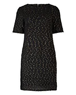 Oasis Curve Popcorn Sparkle Shift Dress