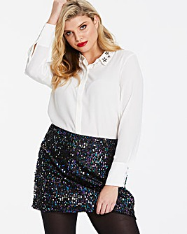 Oasis Star Embellished Collar Shirt