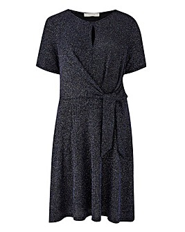 Oasis Glitterball Tie Side Skater Dress