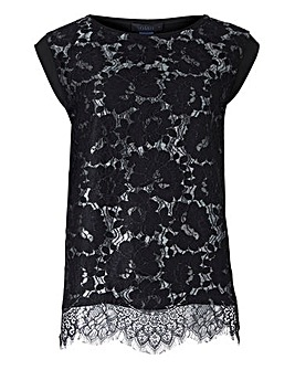 Oasis Curve Metallic Lace Top