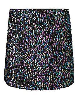 Oasis Sequin Tinsel Mini Skirt