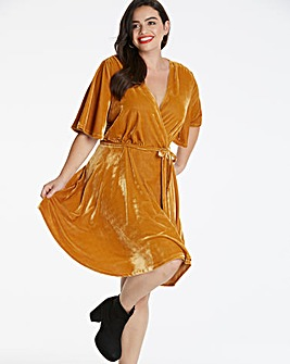 Glamorous Curve Velour Wrap Dress