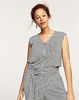 Violeta by Mango Stripe Jumpsuit