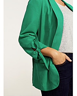 Violeta by Mango Tie Sleeve Blazer