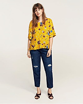 Violeta by Mango Floral Frill Blouse