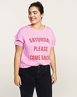 Violeta by Mango Saturday Slogan Tee