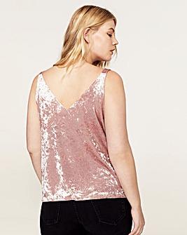 Violeta by Mango Pink Velvet Vest