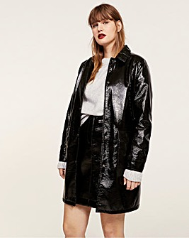 Violeta by Mango PVC Trench Coat