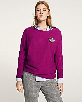 0775b8c9ca63b5 Violeta by Mango Bee Badge Knit
