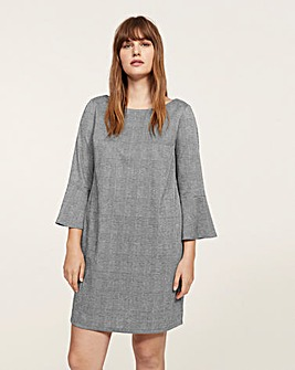 Violeta by Mango Fluted Sleeve Dress