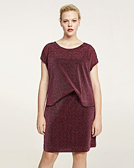 Violeta by Mango 2 in 1 Glitter Dress