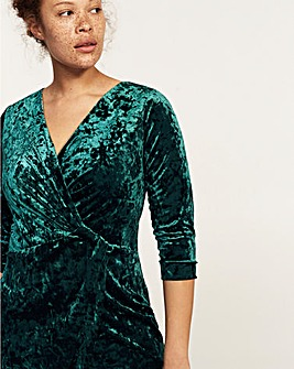Violeta by Mango Velvet Wrap Dress