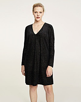 Violeta by Mango Beaded Sparkle Dress
