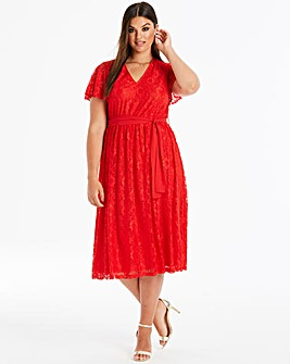 Lovedrobe Lace Midi Dress