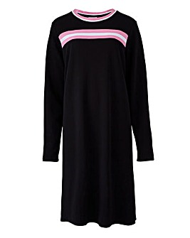 Junarose Contrast Sports Stripe Dress