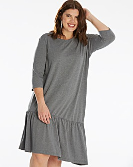Junarose Asymmetric Frilled Hem Dress