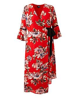 Lovedrobe Print Wrap Dress