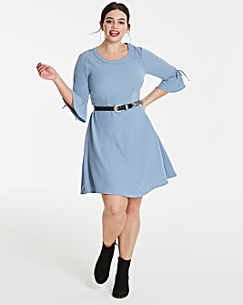 Junarose Frill Sleeve Skater Dress