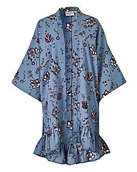 Junarose Frilled Hemline Kimono