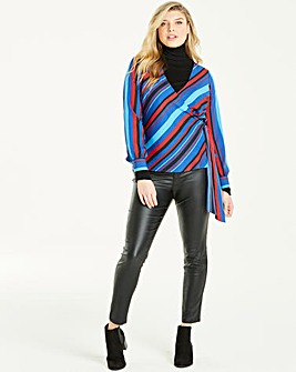 Junarose Stripe Wrap Blouse
