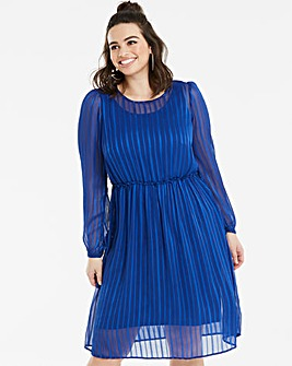 Junarose Cobalt Stripe Dress