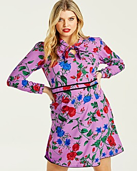 Junarose Floral Printed Skater Dress