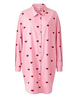 Junarose Kiraz Heart Oversized Shirt