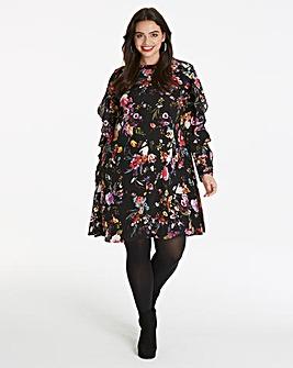 AX Paris Curve Floral Print Dress